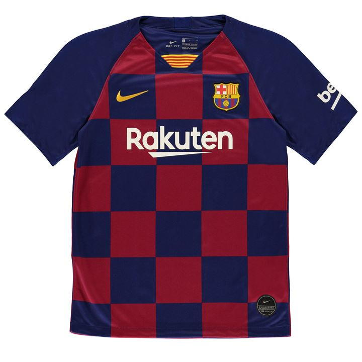 buy popular c5f99 f03c1 Kids Barcelona Home Jersey 2020
