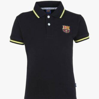 barcelona polo shirt black-pink