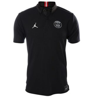 psg jordan polo black