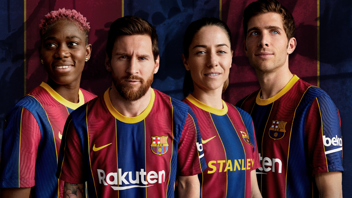 barcelona new kit 2021 banner
